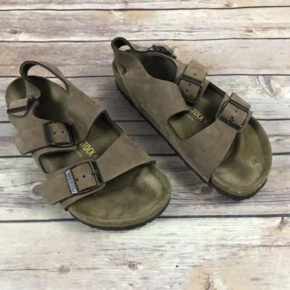 ac9871351218 Birkenstock Shoes - Birkenstock Taupe Open Toe Back Strap Sandals